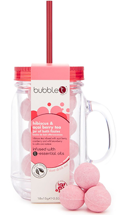 Bubble T Bath & Body Bath Fizzers In Mason Jar Hibiscus & Acai Berry Tea купить