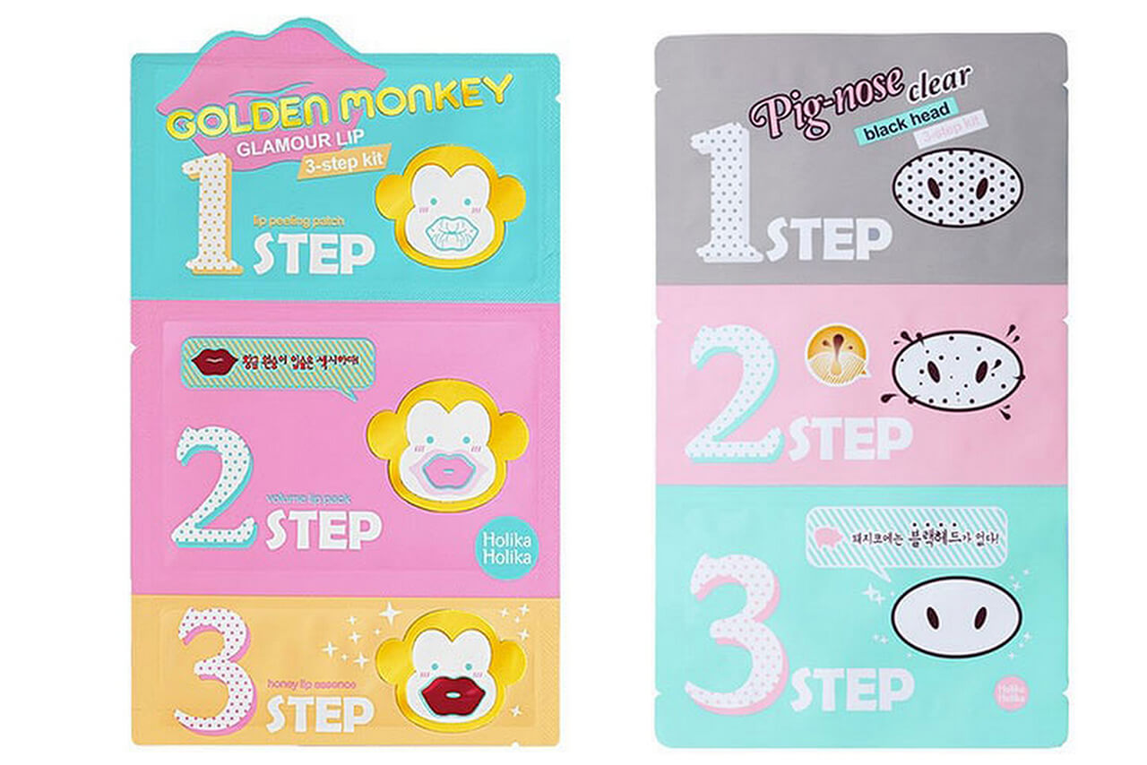 тканевые корейские маски Holika Holika Pig Nose Clear Blackhead 3-Step Kit
