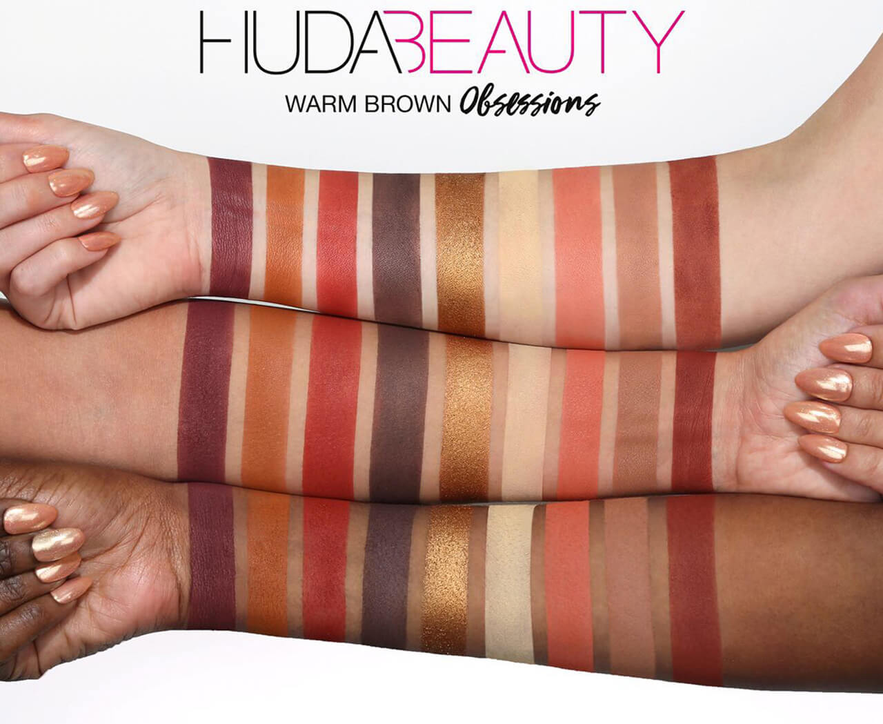 тени Huda Beauty Warm Brown Obsessions купить