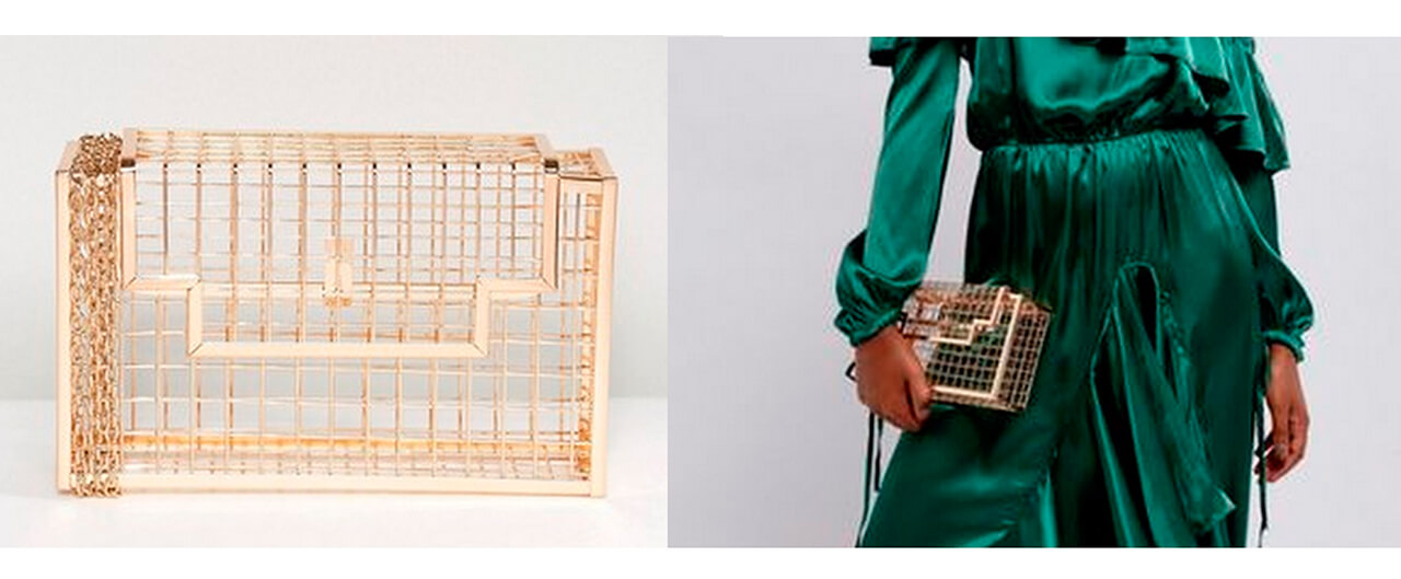 Сумка-клатч ASOS Hand-Made Caged Box Clutch Bag